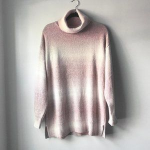 NWT Chaps Pink/White Ombre Sweater - XL